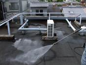 京都市 分譲マンション屋上ウレタン防水工事