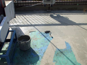 京都市 中華料理店屋上ウレタン防水工事
