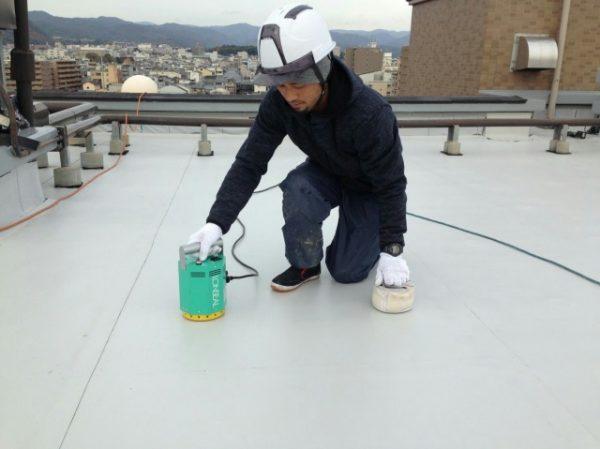 京都市北区Dマンション 屋上防水改修工事