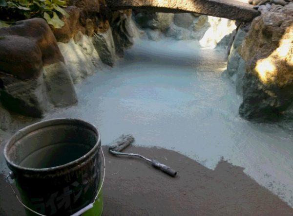 祇園某料亭 池の防水工事