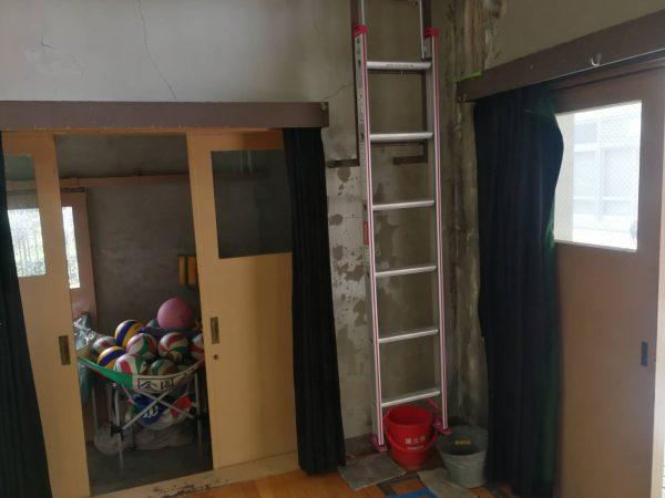 京都市立K小学校 体育館防水修繕工事