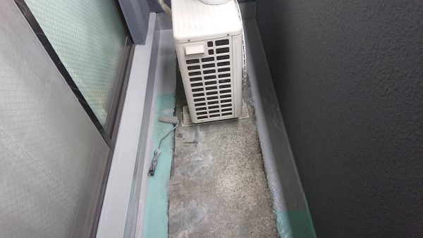 京都市南区Oマンション バルコニー防水改修工事