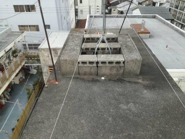 京都市左京区 Dマンション 屋上ペントハウス防水工事