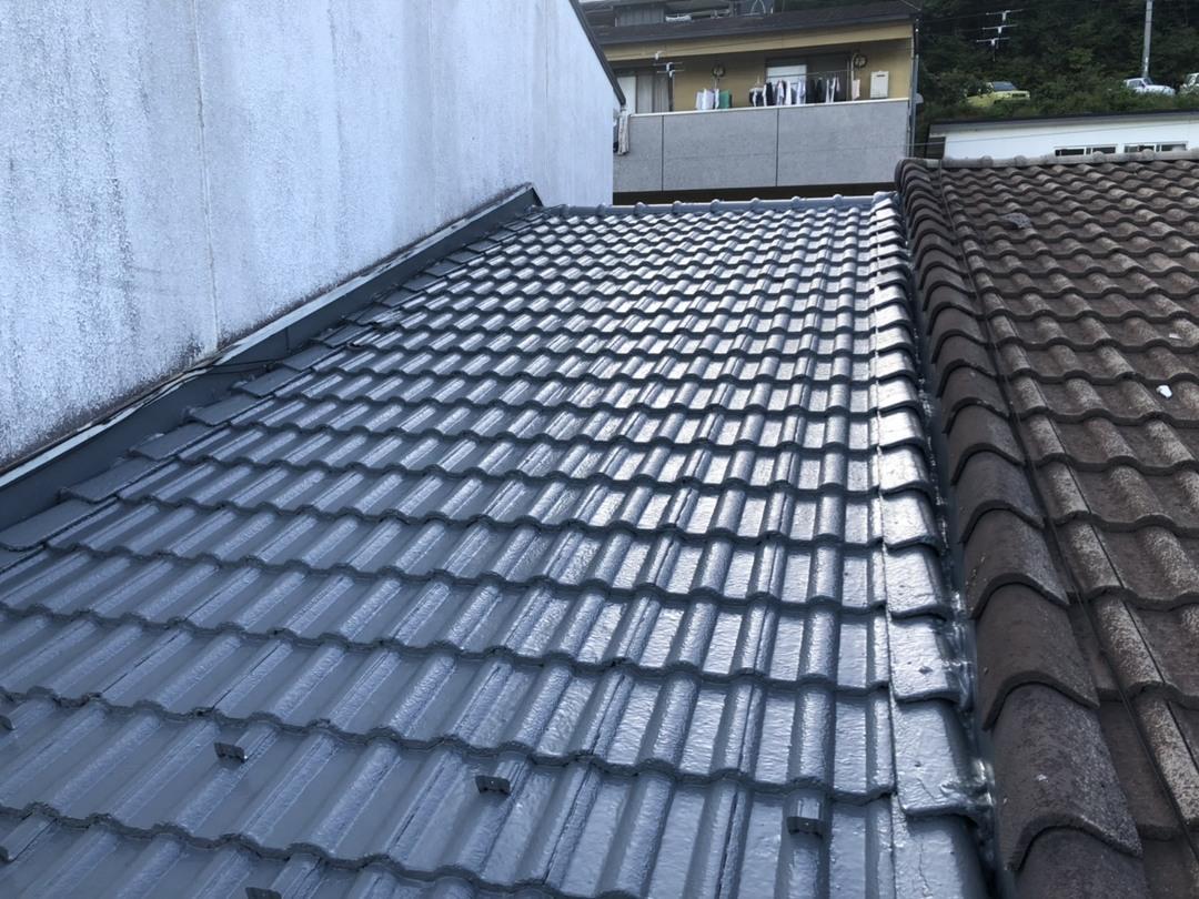 京都市中京区K邸 瓦屋根防水工事のサムネイル