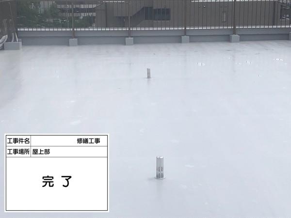 京都市南区Mマンション 屋上防水工事