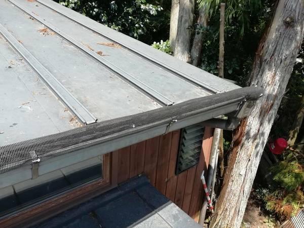防水屋がお伝えする、雨樋の葉よけ方法