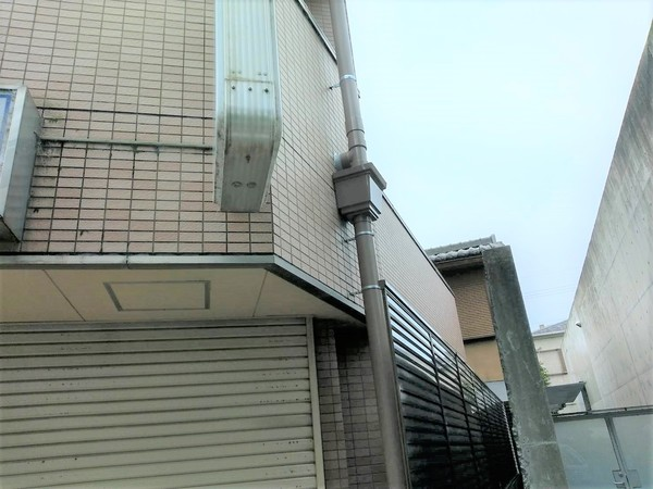 京都市北区Gビル 集水枡取付及び縦樋工事