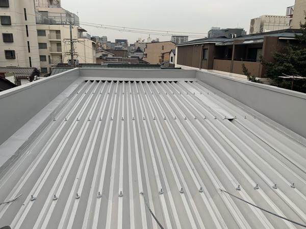 京都市中京区Jビル 折半屋根防水工事