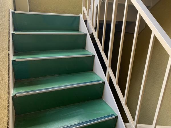 京都市左京区 Gマンション 階段塗装工事