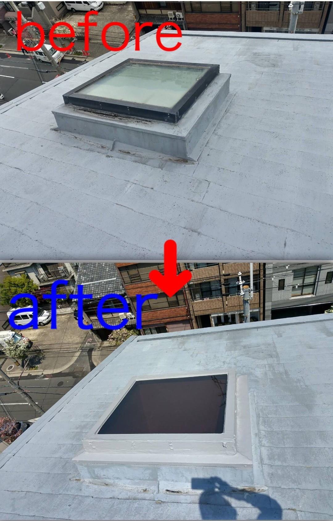 京都市左京区Mビル 屋根トップライト工事のサムネイル
