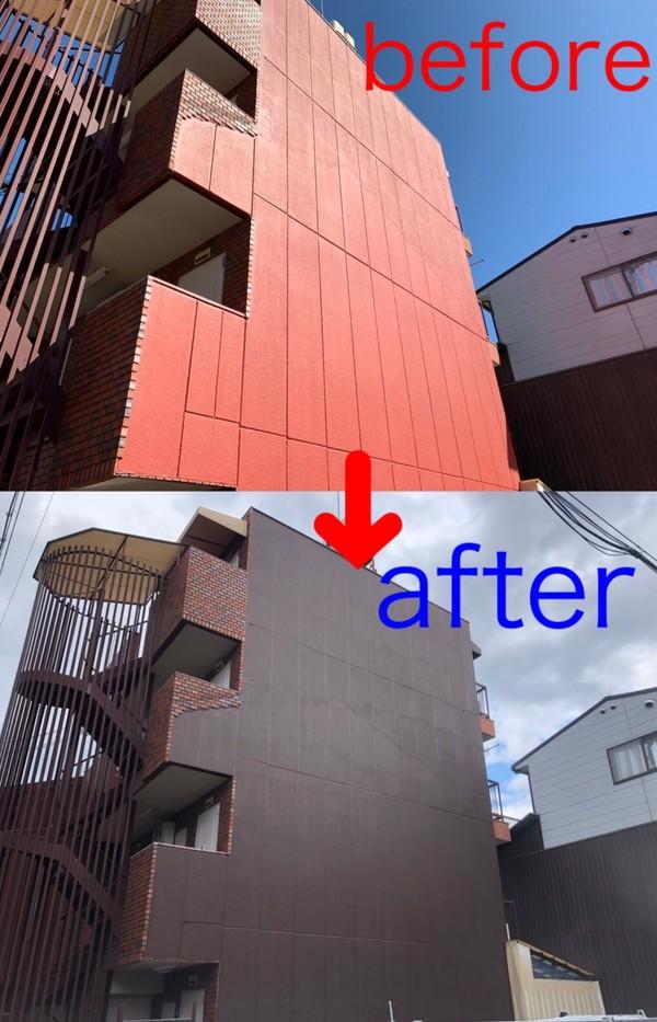 京都市左京区Kマンション 外壁塗装工事(弾性防水塗装)