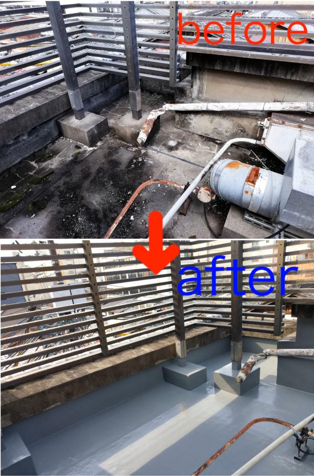 京都市中京区割烹Y様 屋上防水工事(ウレタン防水通気緩衝工法)のサムネイル
