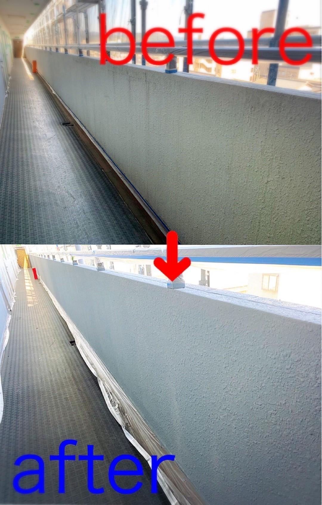 京都市南区Mマンション 共用部塗装工事のサムネイル