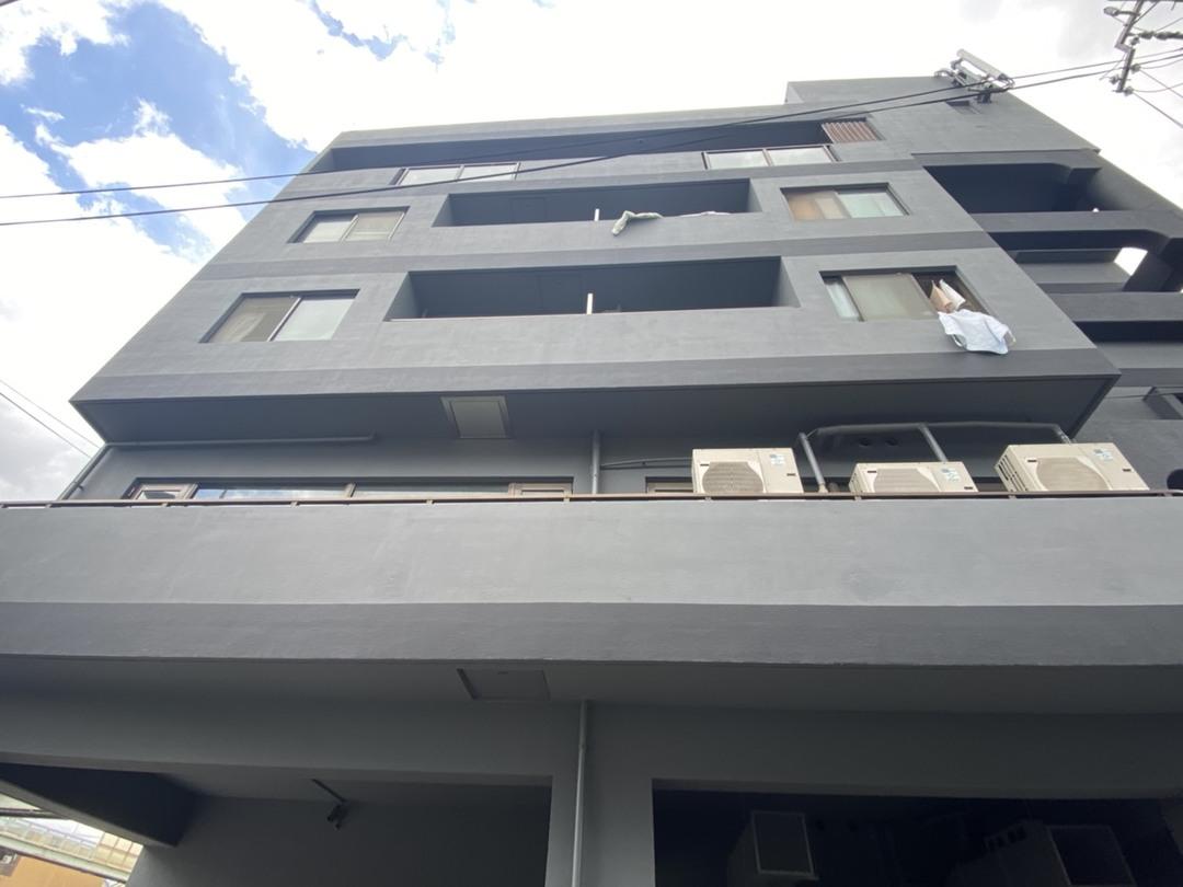 京都市南区Oマンション 外壁塗装改修工事(タイルモルタル埋め・弾性防水塗装)のサムネイル