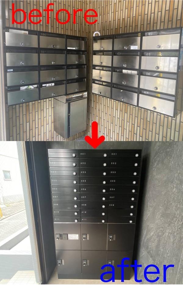 京都市南区Oマンション 集合ポスト