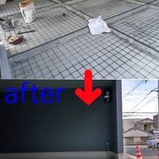 京都市中京区E邸 駐輪場防水工事