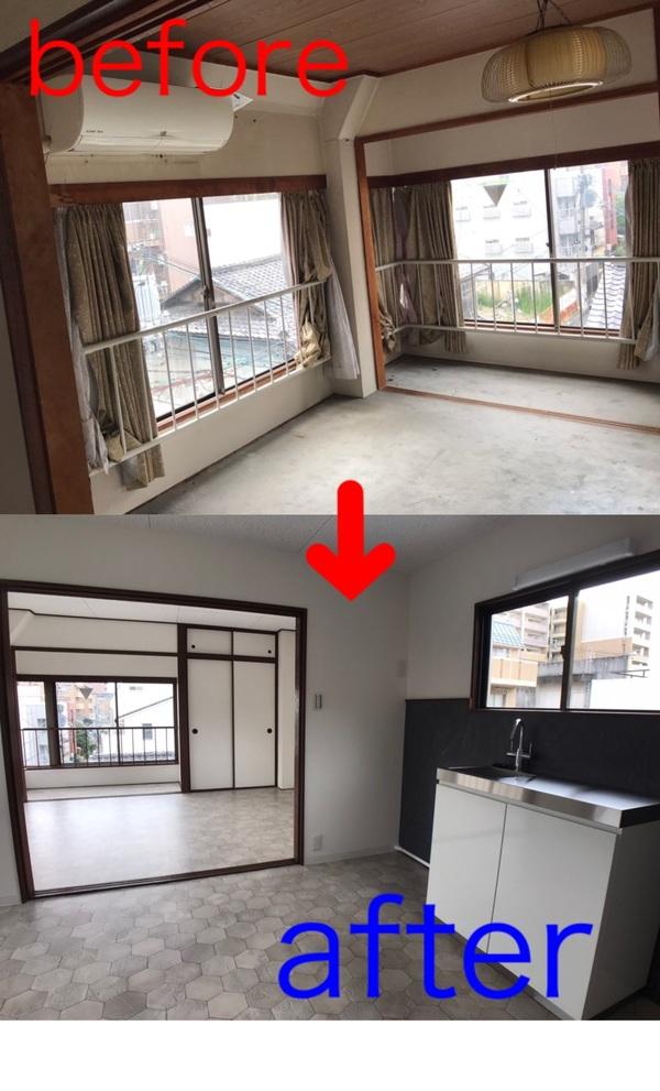 京都市中京区 Hビルリビング改修工事