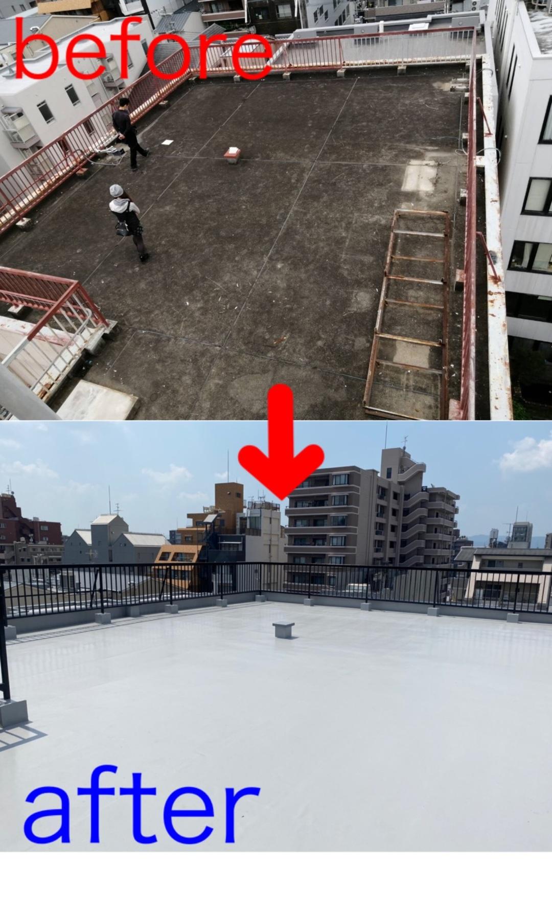 京都市中京区 Kビル屋上防水工事のサムネイル