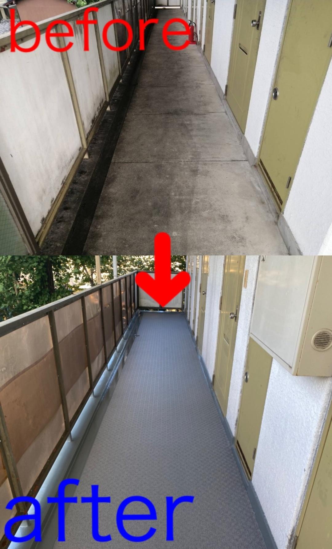 京都市左京区 Dマンション 廊下防水改修工事のサムネイル