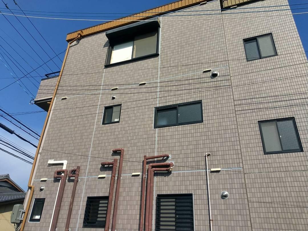京都市伏見区 Tビル 南面タイル外壁防水工事のサムネイル