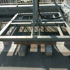 京都市右京区 Kビル 屋上架台ウレタン防水工事