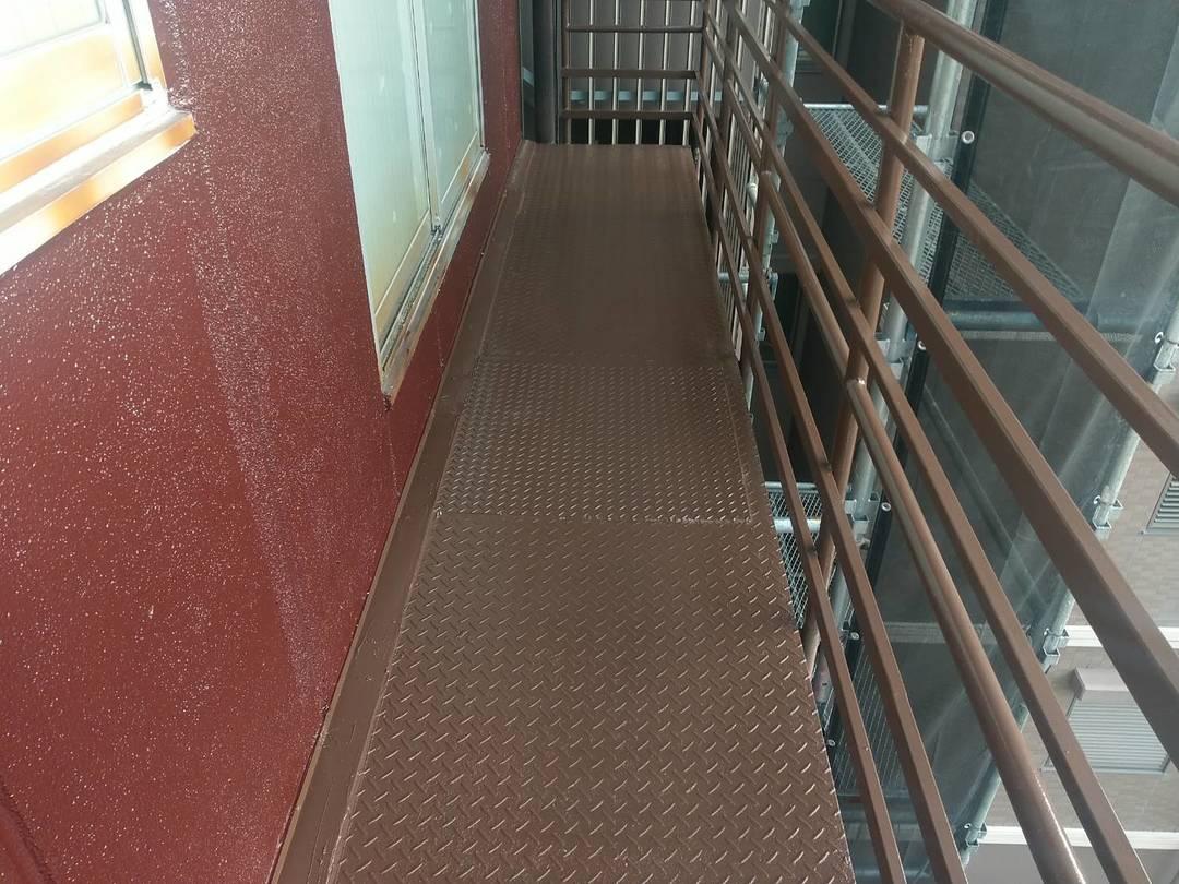 京都市上京区 Gビル 鉄部塗装工事のサムネイル