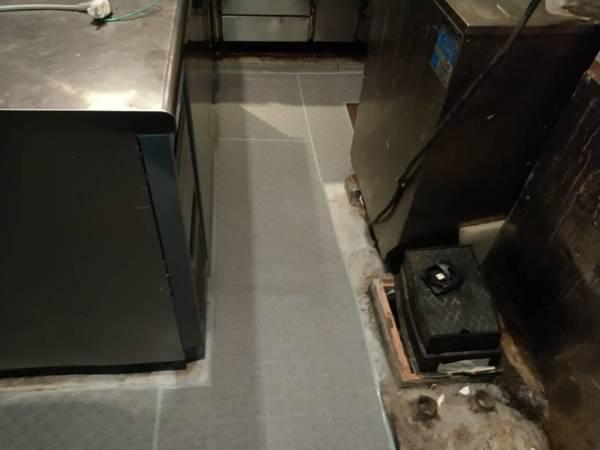 京都市中京区 某厨房グリストラップ内部及び、床防水工事防水工事
