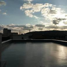 長岡京市 Sマンション 屋上及び、庇防水工事
