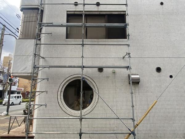 京都市中京区 Mビル 1階漏水修繕工事(クリアプラス防水)