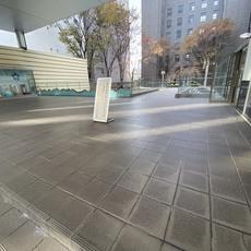 京都市中京区 I学園 エントランス床防水工事
