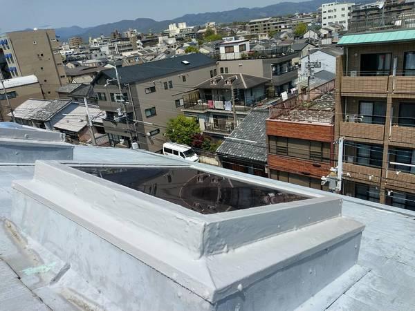 京都市中京区 Mビル 屋上トップライト工事