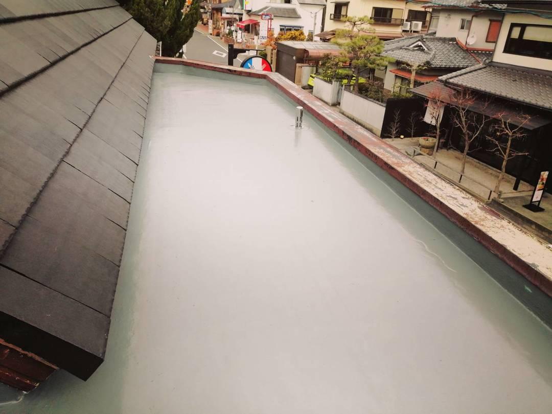 京都市右京区 Aカフェ 庇防水工事のサムネイル