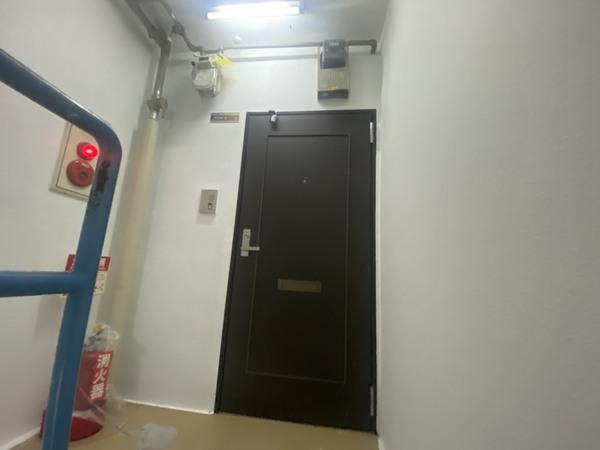 京都市上京区 Cマンション 共用廊下内壁塗装工事