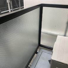 京都市上京区 Cマンション バルコニー手摺り枠塗り替え工事
