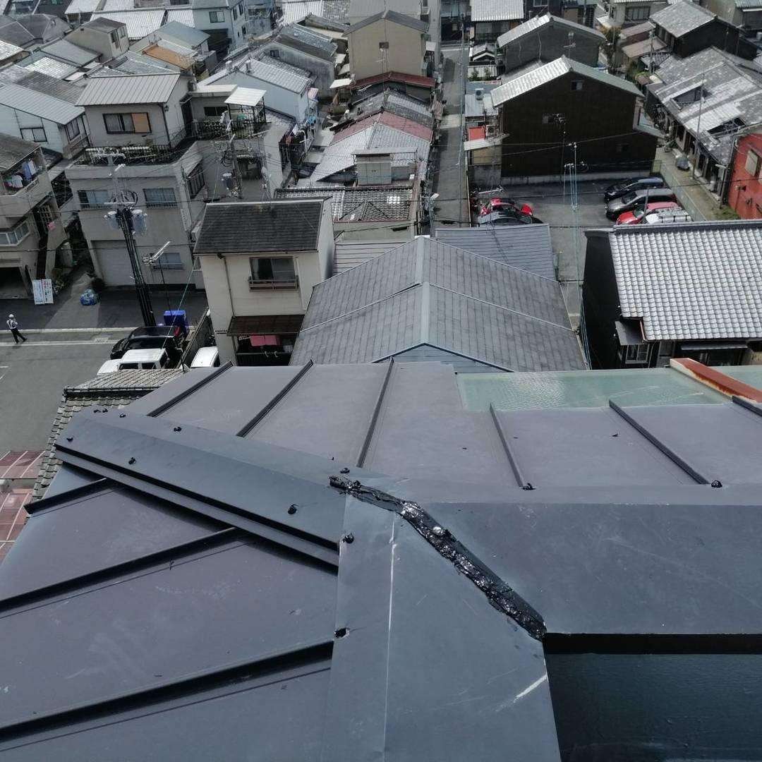 京都市下京区 Gマンション 笠木撤去、新設工事のサムネイル