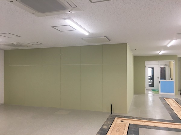 京都市立左京区 京都大学 魚飼育室制作工事・間仕切り壁工事 ㈱KG