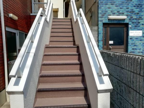 京都市左京区 O邸 階段防水工事及び、長尺シート貼り工事